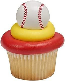 baseball rings for cupcakes