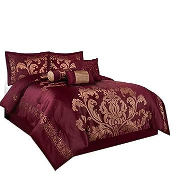 Best maroon comforter set Reviews