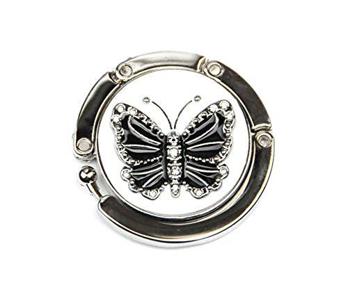 Angel for Angel. Dainty Bling schöner kompakter Handtaschenhalter Aufhänger Taschenhalter (Schmetterling A)