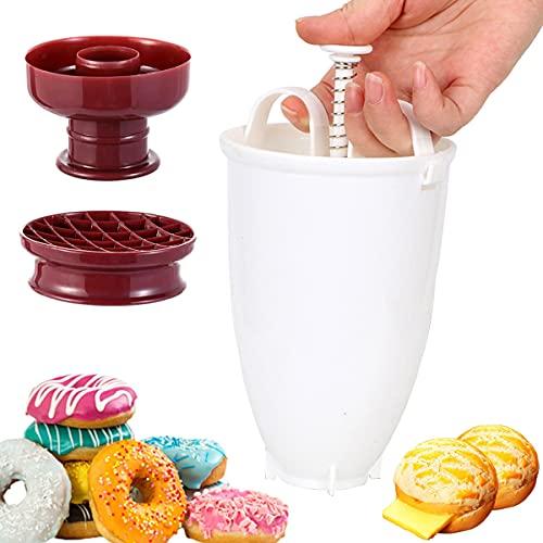 Plástico Fabricante del buñuelo de Máquina,DIY donut Molde de gofres Herramienta de Bricolaje Molde para hacer pasteles,donuts