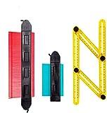 Medidor de contornos con bloqueo, 250 mm y 120 mm, herramienta duplicador grande, dispositivo de medición con escala ideal para perfil irregular, laminado, azulejos, etc.