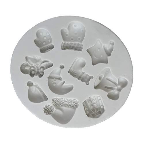 Silikonform mit Weihnachtsmond-Glocke, 3D-Form, Kuchendekoration, Backform, Schokolade, Fondant, Paste, Harz, Polymerton, Backwerkzeug