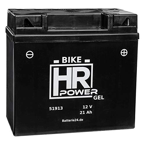 GEL Motorrad Batterie Starterbatterie 12V 21Ah 51913 12N19AH wartungsfrei