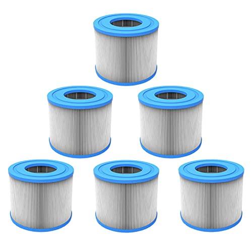 A-A 6pcs Filterkartusche für Whirlpool/Spa/Schwimmbad, kompatibel mit Clever Spa/Aquaparx/Aqua Spa/Costway/All Seasons/GoPlus/Wido und andere