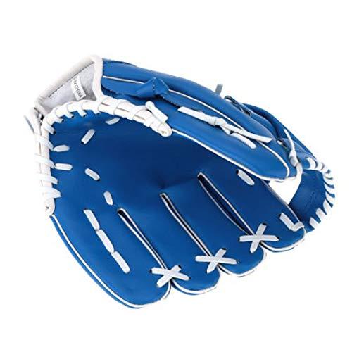 YL PVC Catcher Glocher Pitcher Catcher, Guante de béisbol Entrenamiento de béisbol Principiante Adolescente Entrenamiento Profesional Catcher de béisbol Equipo de protección, Azul