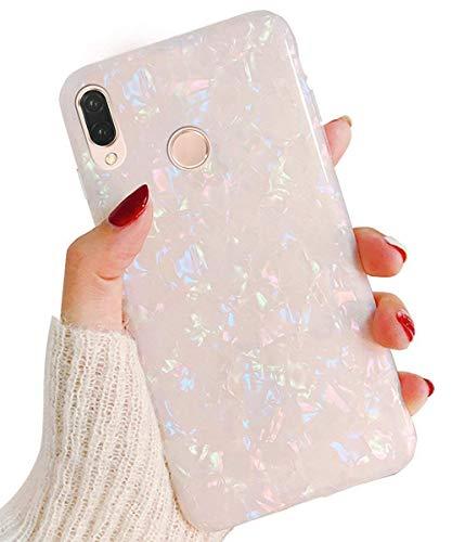 Surakey kompatibel mit Huawei P20 Lite Hülle Silikon Glänzend Bling Glitzer Schutzhülle 3D Geometrische Muster Ultra Dünn Soft TPU Silikon Bumper Handyhülle Tasche Case für Huawei P20 Lite,Bunt