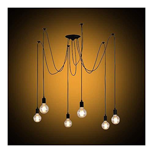 Lampadario Vintage Industriale Lampada a Sospensione Nordic Spider DIY Ajustable per Cucina Sala da...