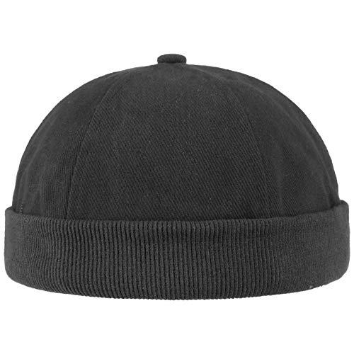 Lipodo Berretto da Portuale da Uomo | Berretto in 100% Cotone Taglia Unica (54-61 cm) | Cappellino con Chiusura | Cappellino da Portuale in Nero | Ideale da Indossare Tutto l'Anno