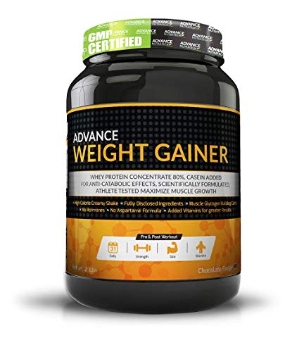 Advance Nutratech Weight And Muscle Mass Gainer Protein Powder,- 2 Lbs (Chocolate)