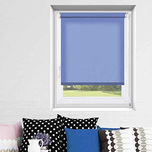 MADECOSTORE - Estor Enrollable para Estor, Color Azul Claro, 35 x 170 cm (Tela de 32 cm)