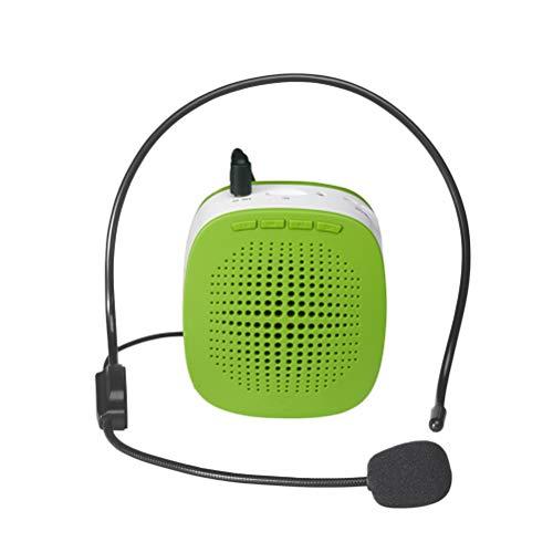 VORCOOL Mini Amplificador de Voz Recargable Portátil Con Micrófono con Cable Auricular y Cintura para Profesores, Canto, Entrenadores, Entrenamiento, Presentación, Guía de Turismo