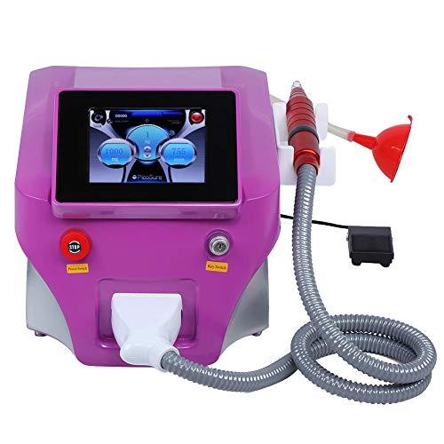 Picosecond Laser Maquina de belleza, Dispositivo de belleza de eliminación de pigmento de tatuaje Herramienta para eliminar manchas de blanqueamiento de la piel con interruptor profesional(Blanco)