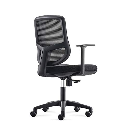 ALFABC Office Chair Ergonomic Desk Chair, Y Shape Low-Back Lumbar Support, Extra Big + Thick Seat Cushion Adjustable Rolling Swivel Task Chair, Mesh Computer Chair for Home Office with Armrests