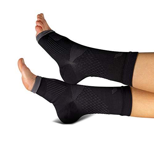 COMPRESSION FOR ATHLETES Hochwertige Plantarfasziitis Socke/Fersensporn Bandagen von CFA, unterstützt Gewölbe und Knöchel, schmerzlindernd, in der EU hergestellt. (1 - Paar) (M/L)