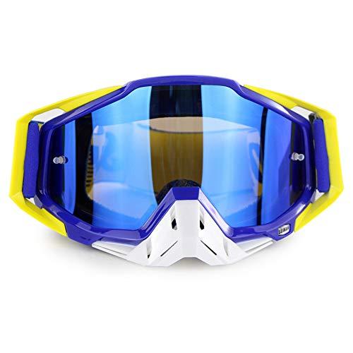 Moto d'hiver Lunettes de Ski de Snowboard sur des Lunettes CS Shooting Lunettes de Protection UV Anti-buée résistant aux Rayures Équitation en Plein air Équipement de Moto,E