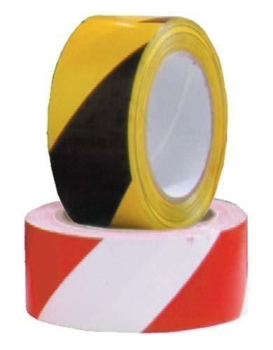 New Zebra Tape Grenze Markieren Pfosten Multisports nicht klebend Isolierung Tapes mehrfarbig rot / weiß 100 m