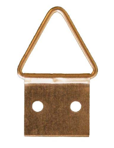 Crochet X - AT2 - 6 Attaches triangulaires + 12 clous pour petit cadre - 11 mm - Or (laitonné)