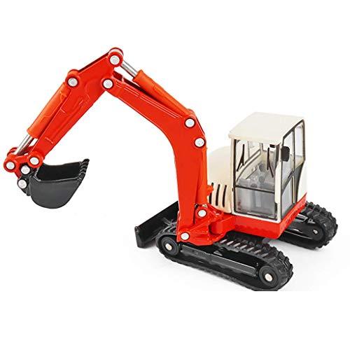 DIHAO Mini Excavadora cargadora retroexcavadora 1:50 Modelo de aleación, vehículos de ingeniería de Alta simulación Juguetes educativos