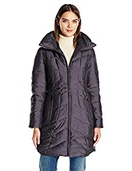 top rated Anne Klein Women's Stand Up Collar Down Jacket Smoky Size X-Small 2021