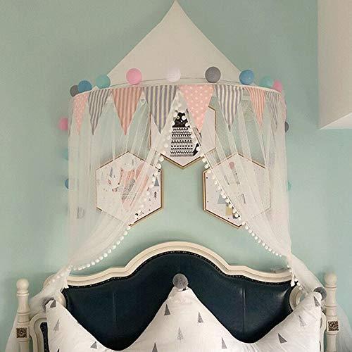 Baldakin sänghimmel tak barnrum myggnät, insektsskydd barn prinsessa lektält dekoration för barnrum (A/3, small)