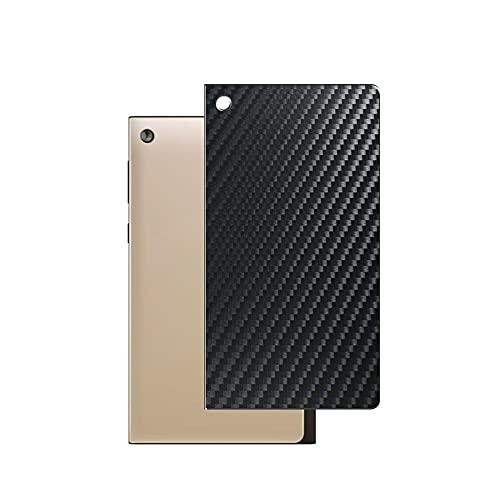 VacFun 2 Piezas Protector de pantalla Posterior, compatible con ASUS MeMO Pad 7 ME572CL / ME572C 7', Película de Trasera de Fibra de carbono negra Skin Piel
