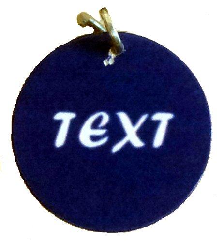 Creative Things (Inh.A.Betz) creathi Anhänger fürs Halsband - viele Farben, Wunschtext personalisiert 25mm extra leicht Halsbandanhänger - Katzenmarke