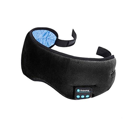 YYR Schlaf-Kopfhörer Bluetooth, 3D-Schlafmaske, Bluetooth 5.0 Wireless Music Augenmaske, mit eingebautem Lautsprecher Mic freihändig, die für Schlaf, Joggen, Yoga,Schwarz
