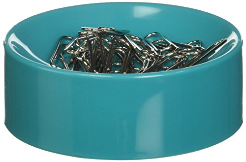 Clipwell Magnetic Paper Clip Holder, Turquoise