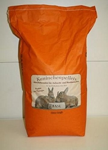 BASU Kaninchenpellets ohne Kokzidiostatika Kaninchen Futter Pellets ohne Kok 25 kg