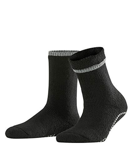 FALKE Damen Vollplüschsocken Cuddle Pads - Baumwollmischung, Warmer Vollplüschsocken für Damen aus Merinowolle und Baumwolle; ideal für Zuhause, Schwarz (Black 3009), 39-42, 1er Pack