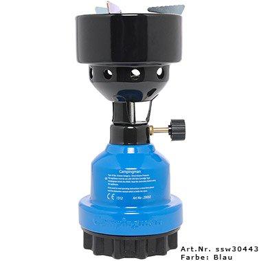 Campingman Multifunktionsgaskocher - Campigkocher Shisha Gasbrenner (Blau)
