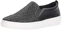 Black Goldie Darling Diamond Shape Rhinestone Slip On Sneaker