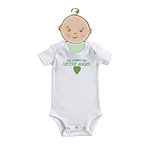 Grasslands Road Celtic Angel Onesie Baby Bodysuit 0-3 Months White