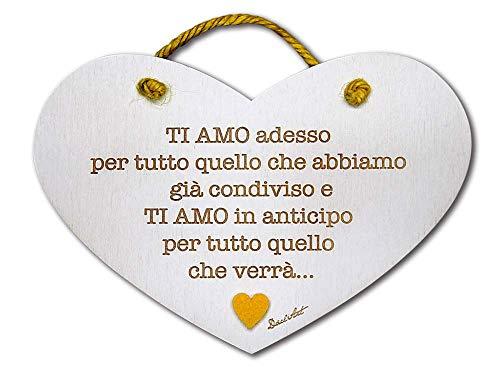 Dacl'Art Targa in Legno Amore Ti Amo cu-03 Made in Italy