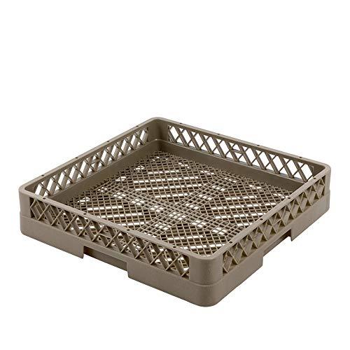 WAS 9850 002 Série 9850 Couverts en polypropylène pour Lave-Vaisselle, sans Compartiments, Maille Fine, Beige/Marron, 50 cm de Long, 50 cm de Large, 10 cm de Hauteur.