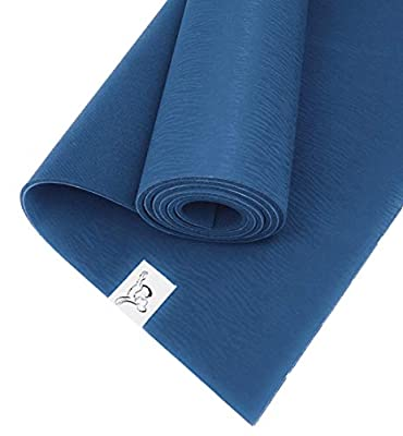 Tiggar Yoga mat - 100% Eco Friendly, Natural Tree Rubber Material, with Dense Cushioning for Support and Outstanding Surface Texture for Stability in All Types of Yoga and Pilates. (Blue, 4MM X 72)