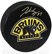 Patrice Bergeron Boston Bruins Signed Autographed Bear 3rd Logo Hockey Puck