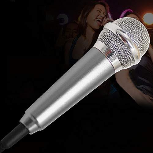Envilean Portable Mini Fashion Karaoke Condenser Microphone for all Smartphones(Silver Colour)
