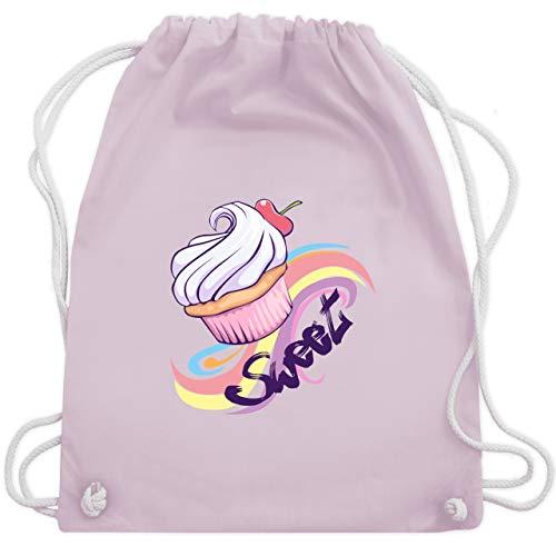 Comic Shirts - Sweet Cupcake - Unisize - Pastell Rosa - cupcake handtasche - WM110 - Turnbeutel und Stoffbeutel aus Baumwolle