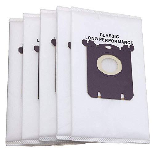 Mazu Homee 5 bolsas desechables para aspiradora con filtro de polvo no tejidas para Philips Electrolux S-bag