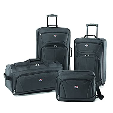 American Tourister Luggage Fieldbrook II 4 Piece Set, Charcoal