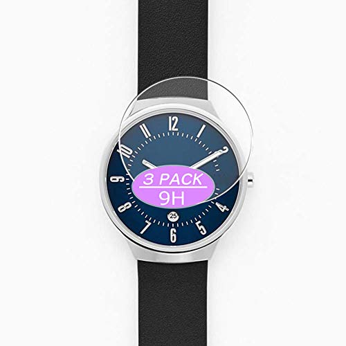 [3 Pack] Synvy Tempered Glass Screen Protector, Compatible with Skagen Grenen SKW6547 SKW6523...