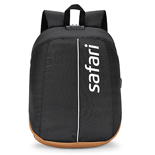 Safari 48 cms Black Formal/Office/Laptop Backpack with Anti-Theft, Lock, USB and RFID (VAULT19CBBLK)