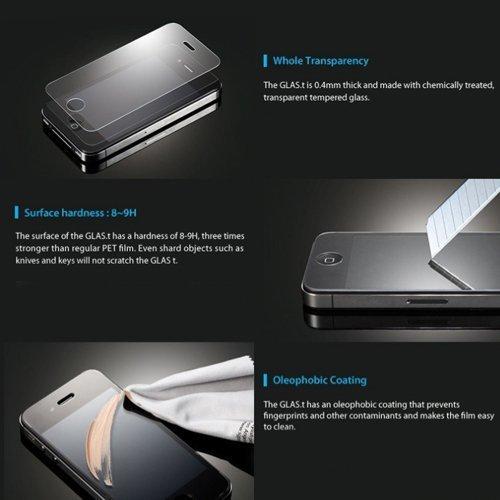 Lusee 2 X Pack Panzerglasfolie Tempered Glass Hartglas Schutzfolie für Huawei Y560 / Y5 4.5 Zoll Folie Protector Displayschutz 0,3mm 9H 2.5D (Nur den flachen Teil abdecken) - 2