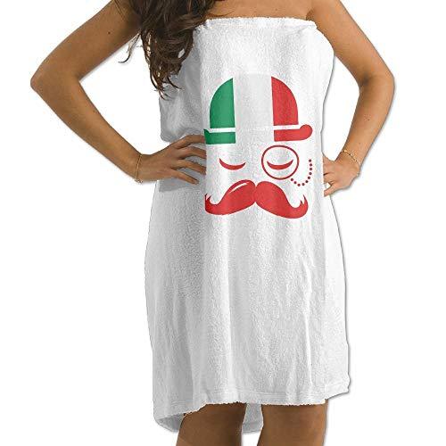 zjipeung Toalla de baño con Bandera Italiana para Hombres con Barba para Hombre Toallas de baño para baño Baño de Ducha Beach SPA Blanco para niñas Adolescentes Adultos Toalla de Viaje