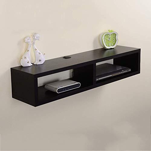 Shelves Furniture Wall Shelfs Wall-Mounted Tv Cabinet Shelfs Tv Background Wall Decoration Set Top Box Router DVD Shelfs Tv Console Shelfs,Black,100 * 25 * 20CM,Size Name:80*25*20CM,Colour Name:Black