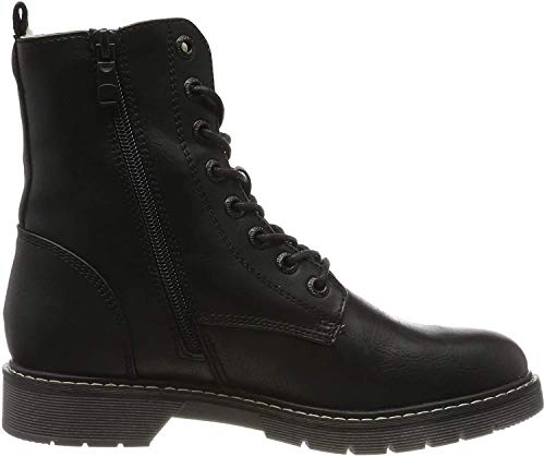TOM TAILOR Damen 7992802 Stiefeletten, Schwarz (Black 00001), 39 EU