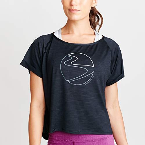 Beachbody Women's Energy Mesh Layer Tee, Barcode Black, Large
