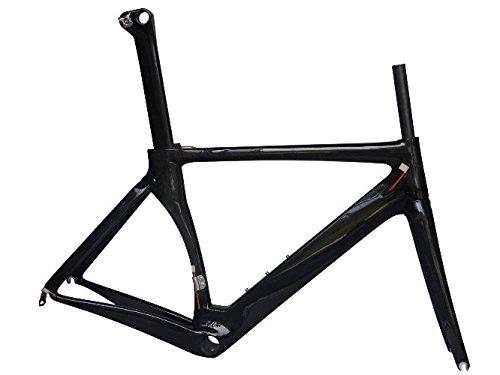 Bicicleta de carretera cuadro (de carbono para bb79mm): 54cm Marco Tenedor abrazadera de tija de sillín BB Auriculares