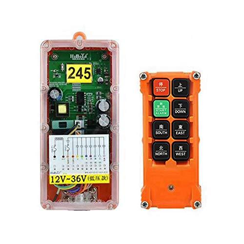 MXBAOHENG Mando para Grua Mando Puente Grua H21-E1 Adecuado para 12V / 24V / 36V 12V-36V 1* Receptor1*Transmisor
